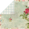 "Craft & You Design Tea Time Dobbeltsidet Cardstock 12x12"" Paper - 04"