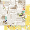 """Webster's Pages Nest Double-Sided Cardstock 12x12"""" - Newsworthy"""